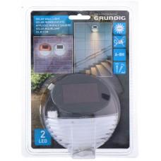 GRUNDIG 12313B Solar luminaire 2 LED outdoors wall black