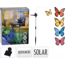 Solar butterfly with motion orange color DX2100010 OEM