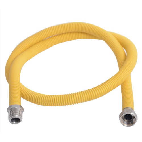 """Flexible device connection spiral 1/2"""" 50-100cm male-female"""