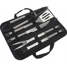BBQ stainless steel cooking tools set 5pcs IGAS