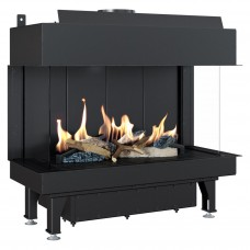 Energy fireplace LEO/LP/70/G31/37MBAR three-sided gas Kratki