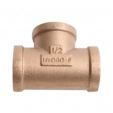 Brass Pipe Fitting T Tee Connecter 3 Way Female 1''x1/2''x1''