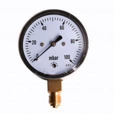 Millibarometer Ø63 100mbar INOX