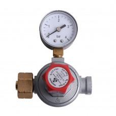 Adjustable High Pressure Regulator 8kg/h with manometer RECA